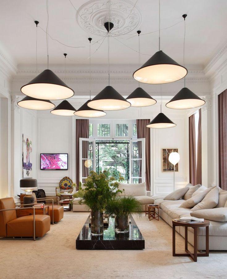 Living Room:Appealing Casa Cor Rio Living Pendant Lamp Design Plafon Modern  Design Decor Wall Art Glass Window With Curtain Modern Sofa With.