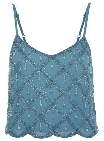 Diagonal Embellished Camisole - Going Out