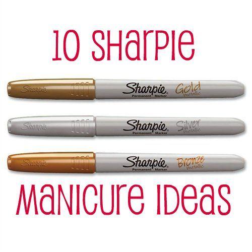 10 Sharpie Manicure Ideas10 Sharpie, Nails Art, Clear Tops, Manicures Ideas, Sharpie Nails, Tops Coats, Nail Art, Sharpie Manicures, Alex O'Loughlin