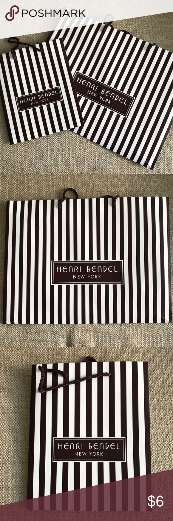 Authentic HB Shopping Bags Great for staging or for those who collect. Multiple available. (May have slight creasing from storage.)  Sellers Notes: No Trades, Prices are firm, and Bundle your likes to receive private offer!    Same Day shipping before 3pm (Mon- Fri) Noon on Saturday (PST) henri bendel Other