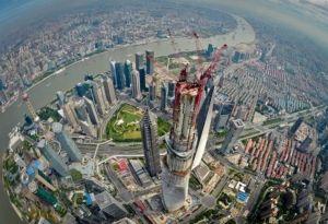 Em obra: Torre de Xangai será o segundo edifício mais alto do mundo