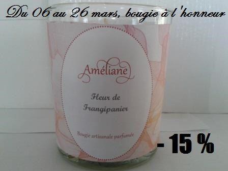 Bougie parfumée Fleur de Frangipanier / par AmelianeBoutikDelage
