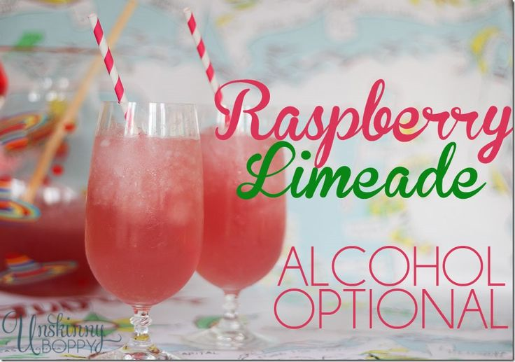 Hard Raspberry Lemonade Recipe (would be a great baby shower punch if you left off the alcohol)