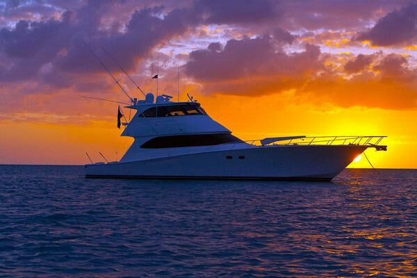 Sunset in the Exumas. - Viking Yacht Company