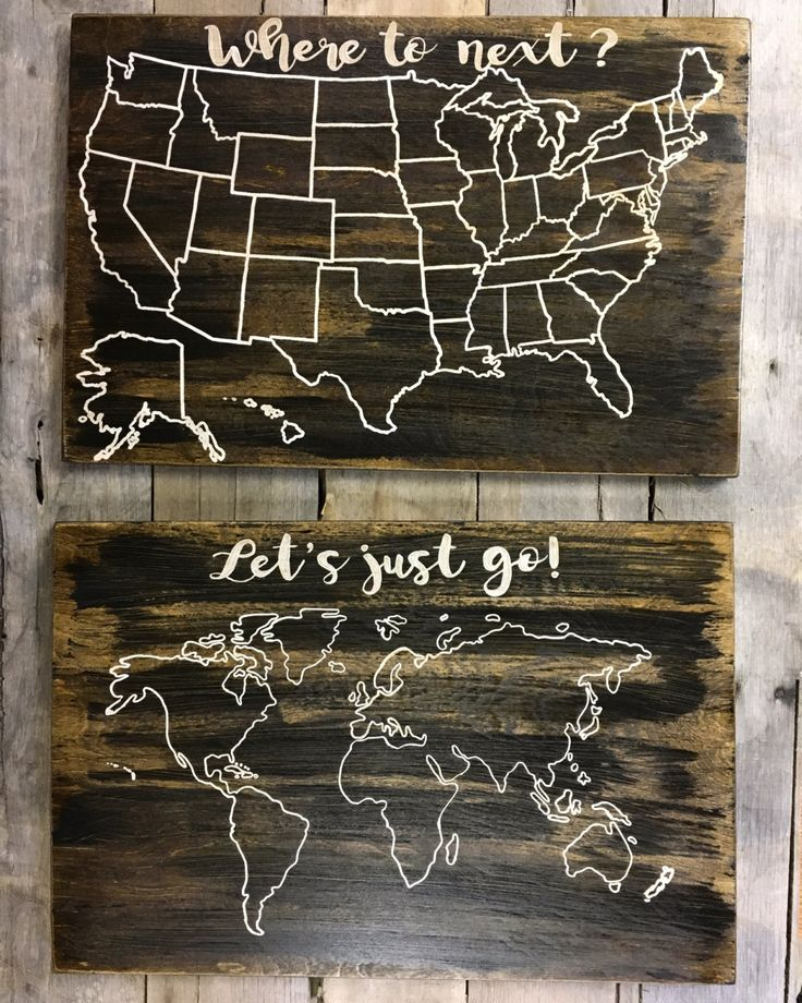 Best For The Home Images On Pinterest Travel Maps Us Map - Wood us map