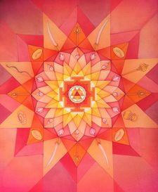 Durga Mandala Print Prints - Sacred Mother Arts