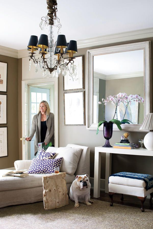Use Animal Print Rugs - 108 Living Room Decorating Ideas - Southernliving. The cheetah print rug in this family room hides a multitude of sins.  See this Designer's Virginia Home
