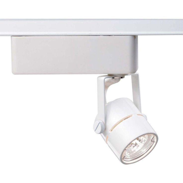 Lite Line 1-Light MR11 12-Volt White Mini Round Track Lighting Head
