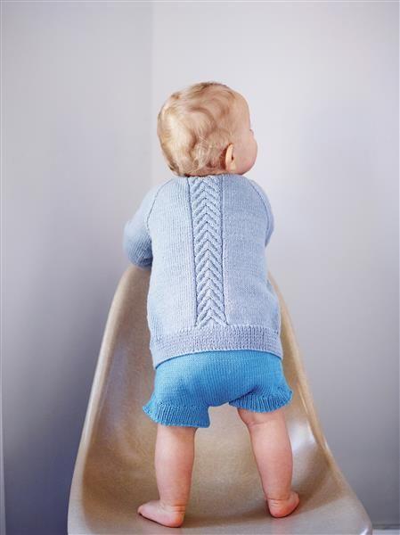 1508: Design 14 Jakke med fletter #strikk #knit #merino