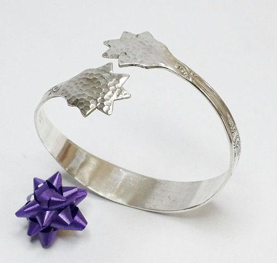 Gehämmertes Silberarmband Silberbesteck AB282 von Schmuckbaron