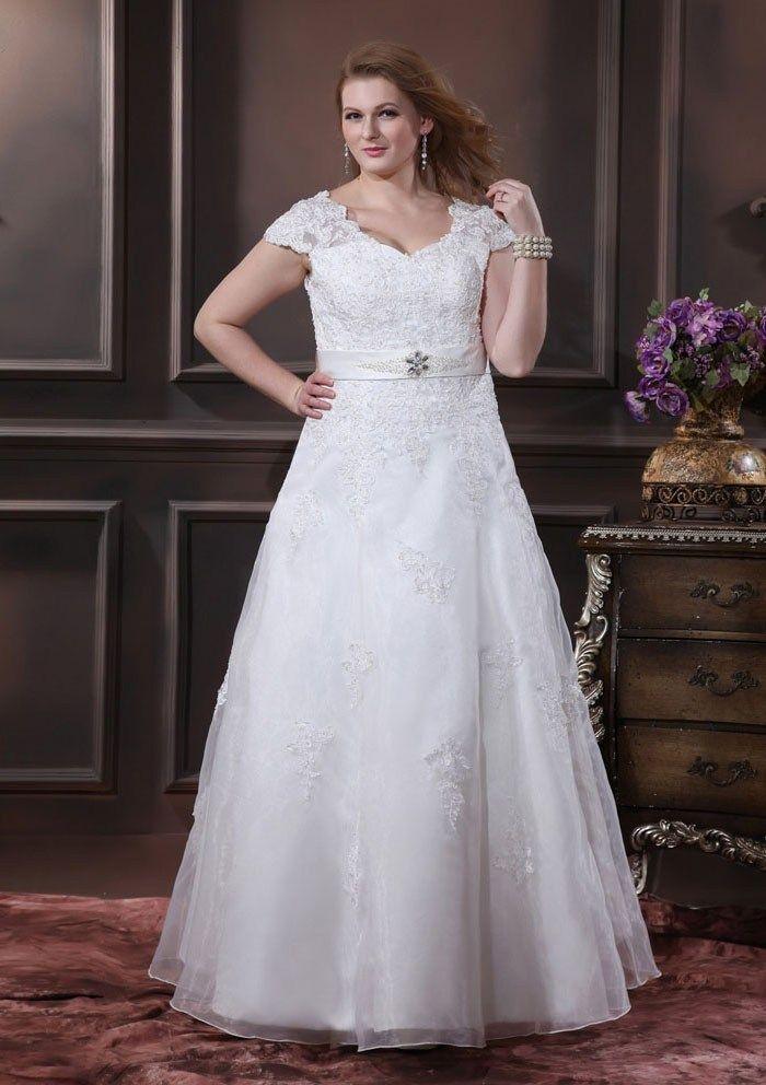 0b5b2fcec02 30 Gorgeous Plus Size Winter Wedding Dresses