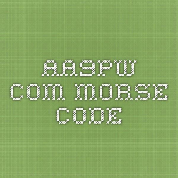aa9pw.com morse code