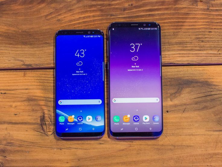 Here they are, Samsung's Galaxy S8 and Galaxy S8 Plus. Note the ultra-narrow top and bottom borders.