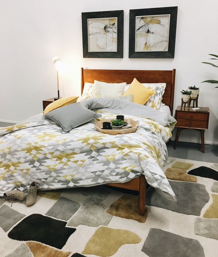 Midtown Mid Century Bedroom Inspiration | American Home #midcentury