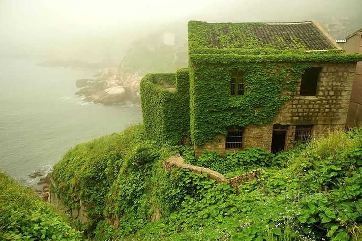 The aesthetics of renaturation of settlements is enhanced aesthetically in this photo documentation of the Gouqi island by News via Bored Panda and Amusing Planet. An in its green homogeneity...