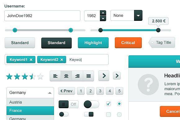 Web UI Kit - Crisp by Screendesire on @creativemarket