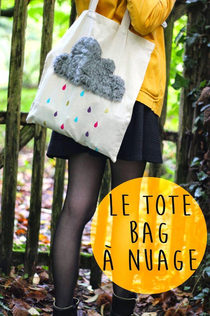 Noix de cocoon: Mon tote bag à nuage : DIY