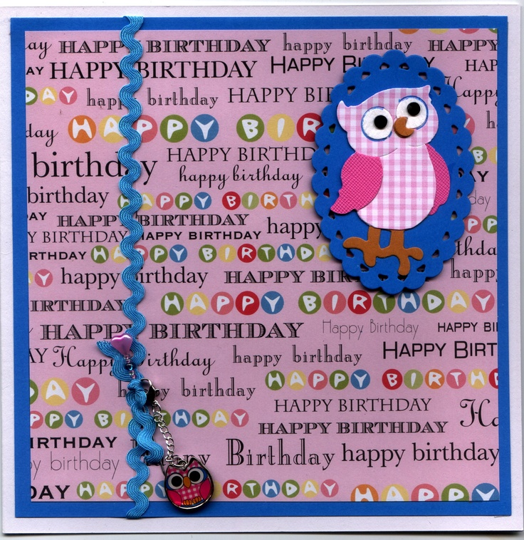 Owl birthday card