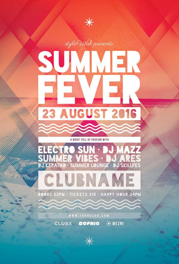 36 best Fun poster images on Pinterest Posters, Poster designs - summer flyer template