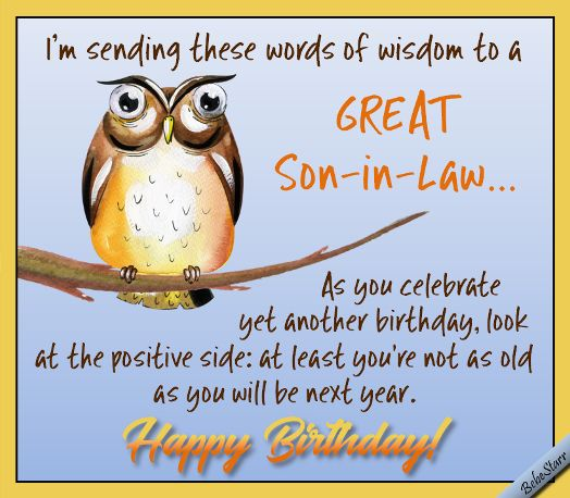 Words Of Wisdom To Humor Your Son-in-law On His Birthday