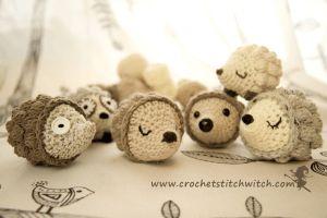 Kijk wat ik gevonden heb op Freubelweb.nl: een gratis haakpatroon van Crochet Stitch Witch om deze leuke egeltjes te maken https://www.freubelweb.nl/freubel-zelf/gratis-haakpatroon-egel-2/