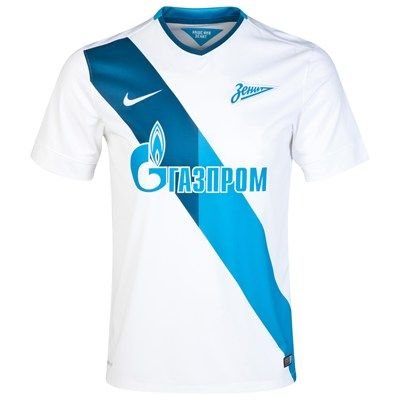 Zenit St. Petersberg 2014/2015 Away Shirt (White). Available from Kitbag.com