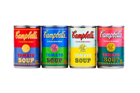 Campbell's Andy Warhol with 50th Anniversary Soup Cans