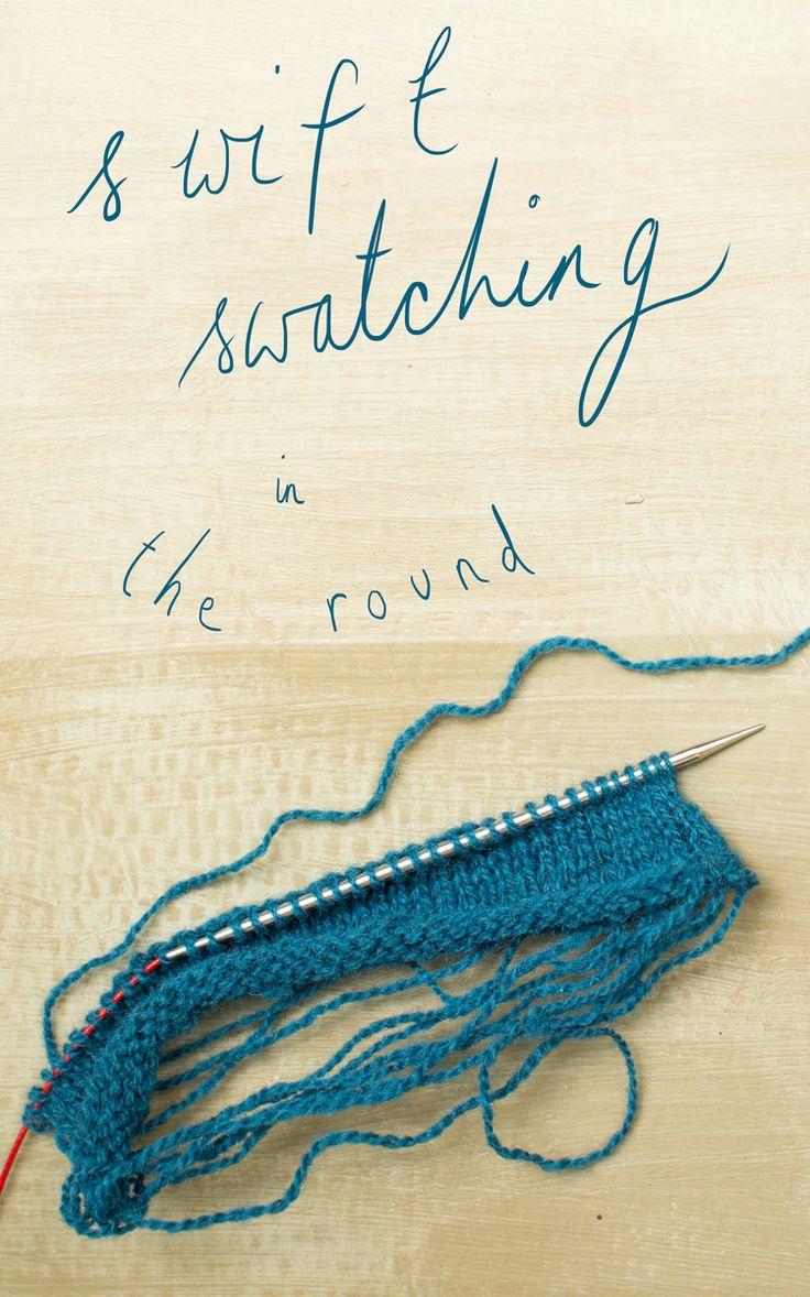 Knitting Bias Stockinette : Jun swift swatching in the round knitting stockinette