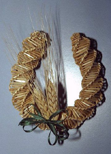 wheat weaving | Photographs and Prices of Ronna's wheat weaving creations from the ...