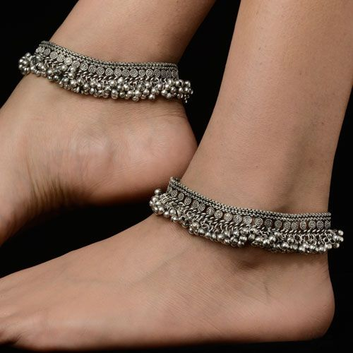 Traditional Silver Anklets