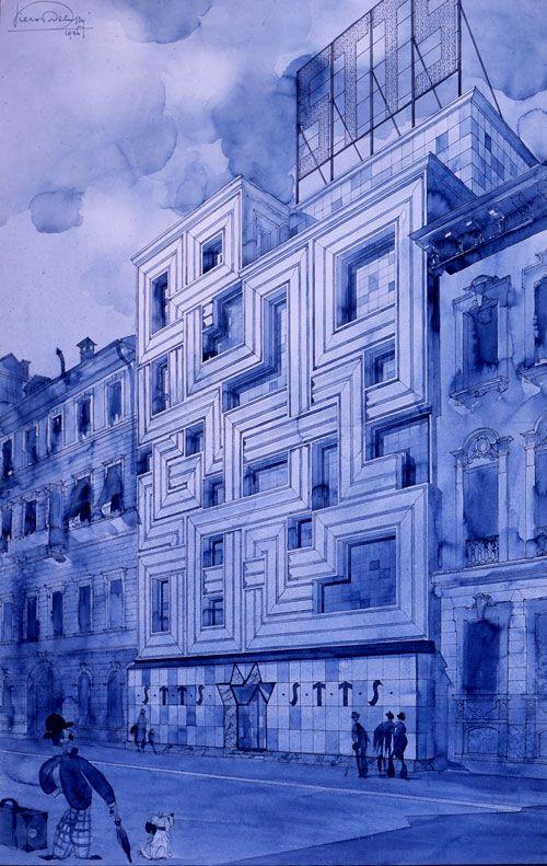 Piero Portaluppi | Progetto per l' edificio STTS, Milano, 1926