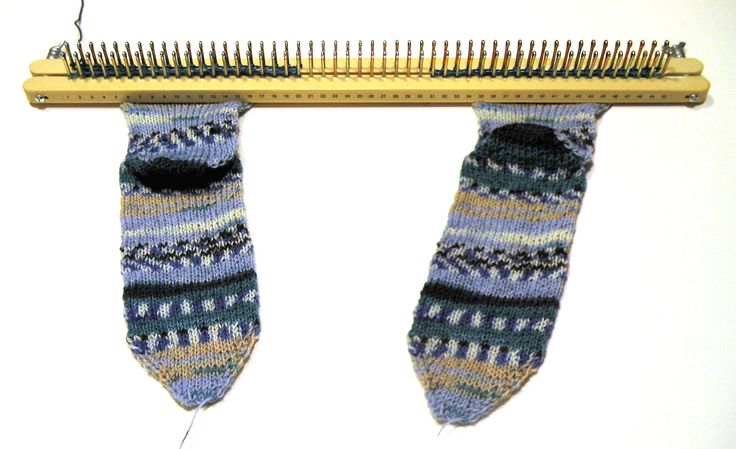 Create a pair of socks on a knitting board! Even both socks at a time. This i...