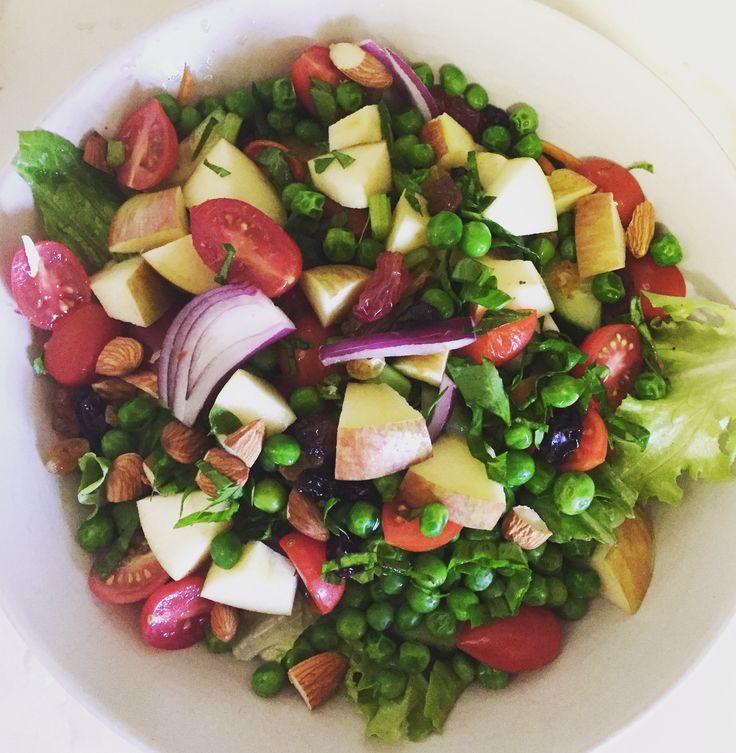 Pea & almond salad