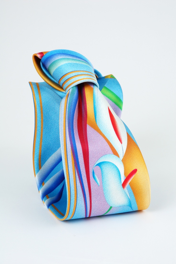 hand painted neck tie  brand:Volare Collection