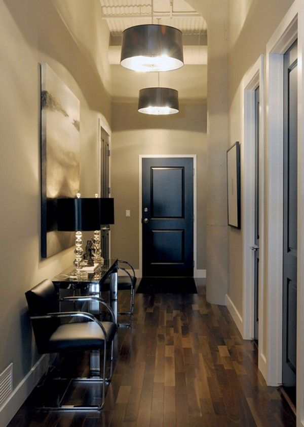 dark hallway lighting ideas - Google Search