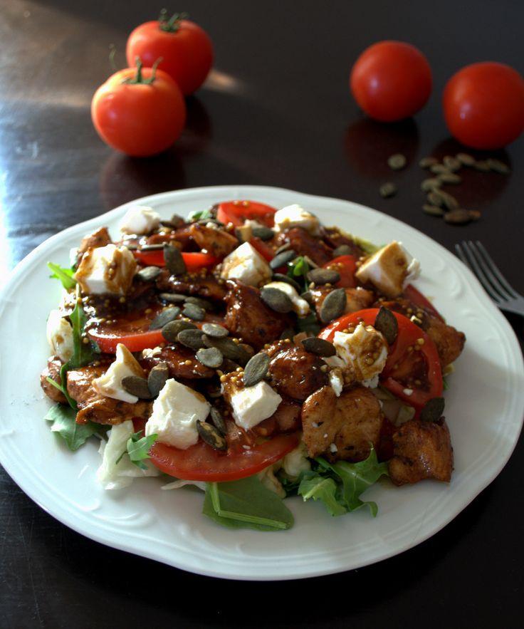 balsamiczny kurczak i pomidor czyli oszukana sałatka caprese – Pani Mucha