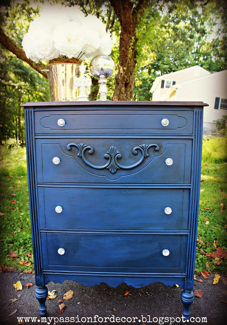 navy blue painted furniture  | ... thank you for taking the time to read about my furniture adventure