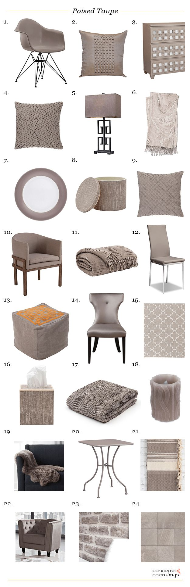 poised taupe interior design products