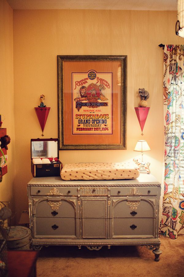 I love this vintage circus nursery!
