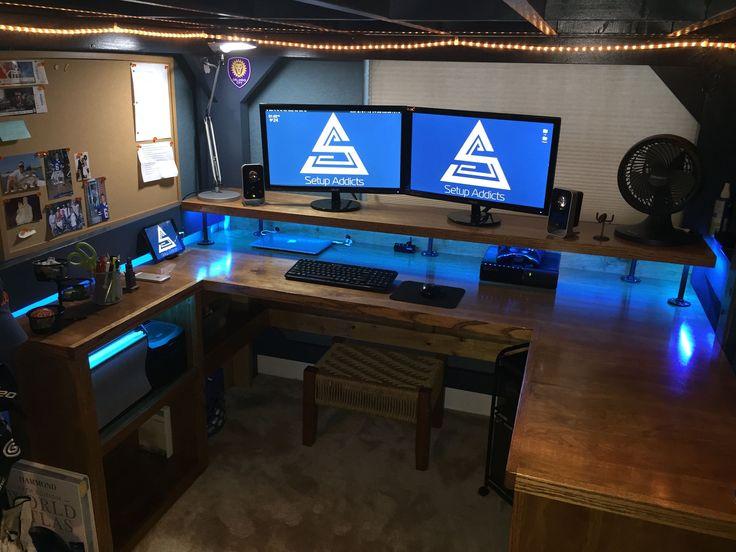 Best 25 Custom Gaming Desk Ideas On Pinterest Pc Gaming