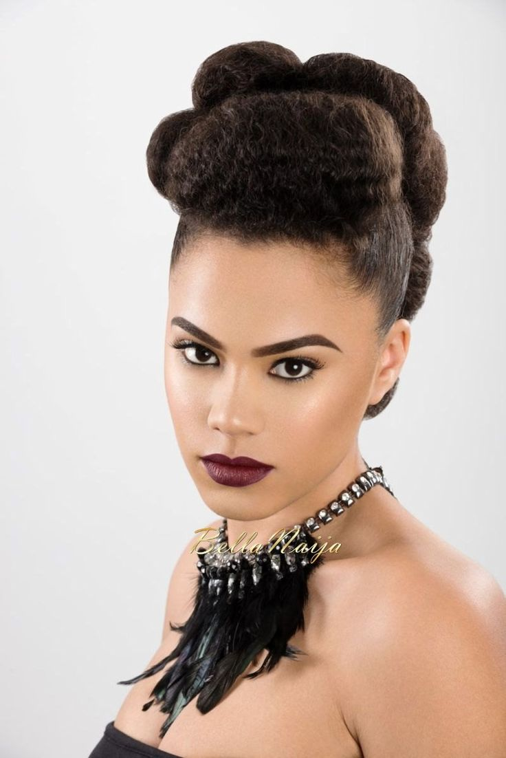 hair updo styles dionne smith hair inspiration bellanaija 3909