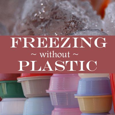 The first step to freezing meat without plastic was to get rid of the single-use plastic – ie the meat trays and double wrapped cling film by using reusable plastic containers. Even ice cream containers work well to freeze meat in.