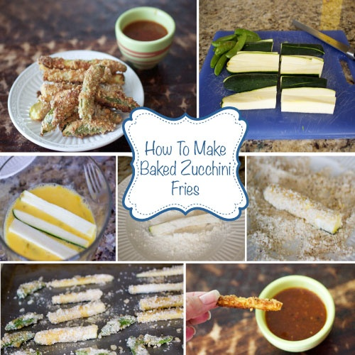 How To Make Baked Zucchini & Snap Pea Fries.  #healthy #Weight Watchers