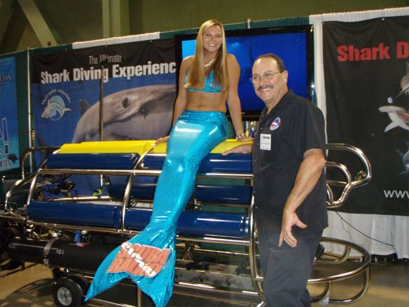 """We had the official """"Roll Out"""" of our Self Propelled Shark Cage (SPSC), which is seen here. Now we can follow the Great Whites wherever they choose to go."""