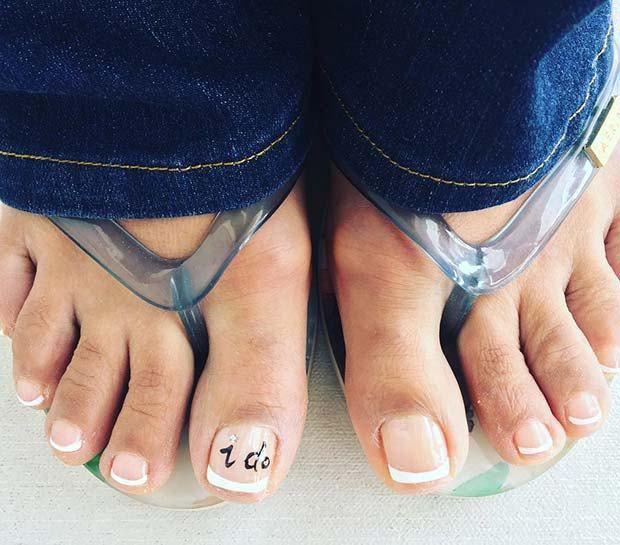 21 Beautiful Wedding Pedicure Ideas for Brides