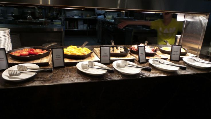 Buffet Breakfast in Salt Grill at the Hilton Surfers Paradise on the Gold Coast in Queensland, Australia