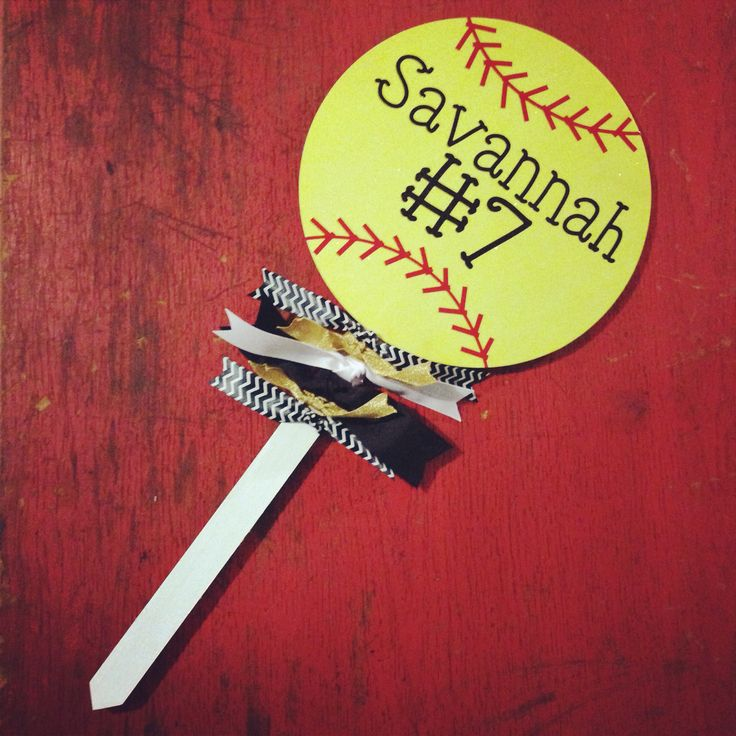 Spirit stick - softball sign - put in your yard, take with you to the game - mark your seats - show your support! Www.facebook.com/fornamesakes $18