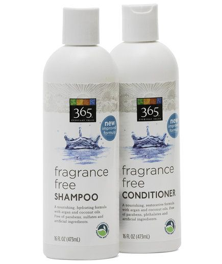 Whole Foods 365 Fragrance-Free Shampoo and Conditioner | When you're wheeling your cart through those storied aisles of organic produce, bulk nuts, and vegan cheese, don't forget to do a detour into the Whole Body section. Packed to the brim with natural skincare, hair-care, and even makeup, it's loaded with some seriously good stuff. Here's what to scoop up during your next shopping trip.