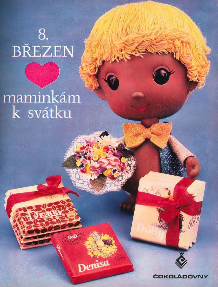 Czechoslovakia advertising chocolate to feast on International Women's Day M.Petrov