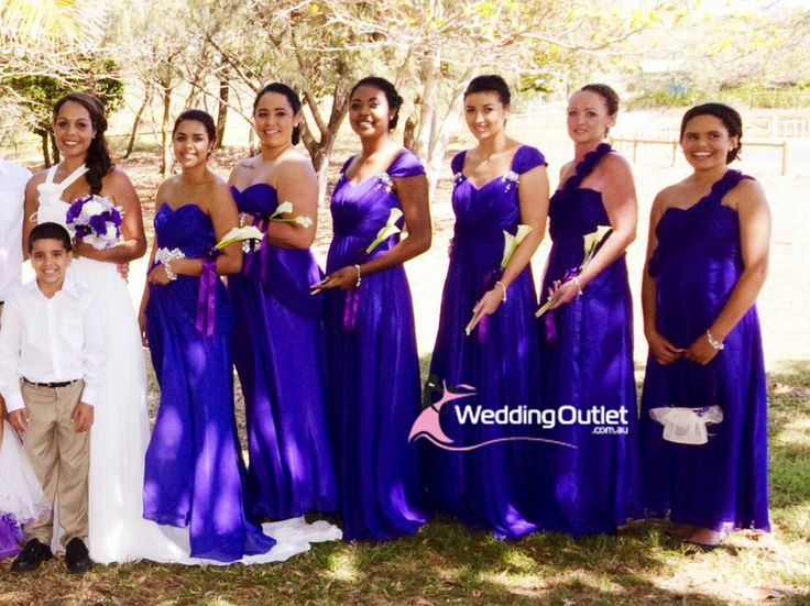 Purple Wedding Theme Dresses Bridesmaid